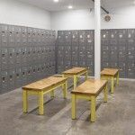 Even the locker rooms are stylish!
