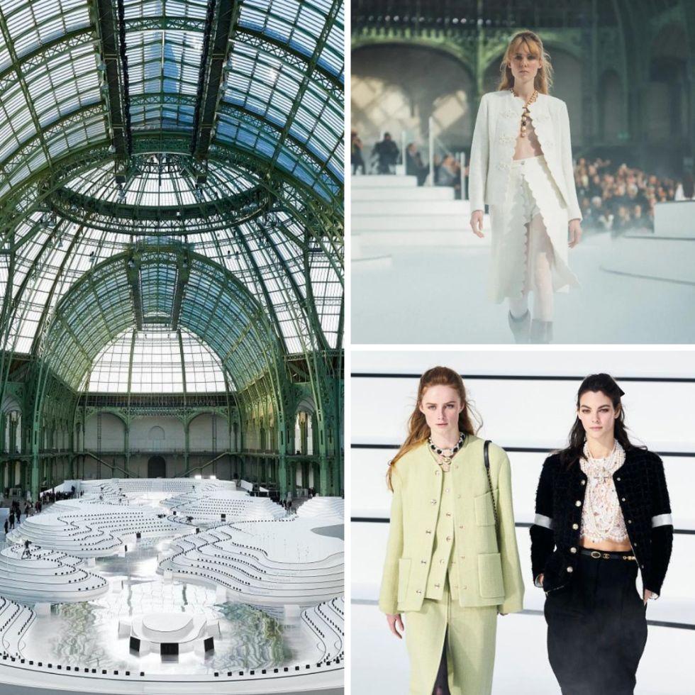 chanel fashion show grand palais beautiful chic catwalk