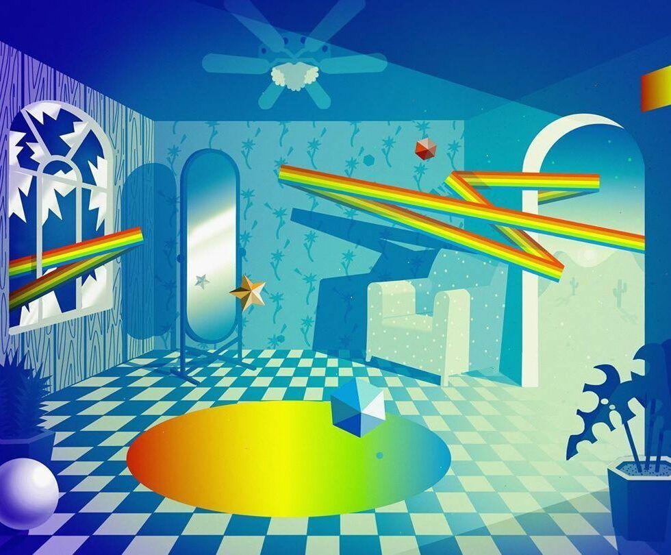 surreal colorful art michael polakowski cool inspiration